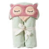 Organic cotton hooded bath towel - sleepy owl