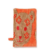 Organic cotton bath mitt - orange jungle (jacquard)