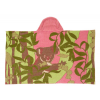 Organic cotton beach towel / bath wrap - pink koala (jacquard)