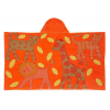 Organic cotton beach towel / bath wrap - orange jungle (jacquard)