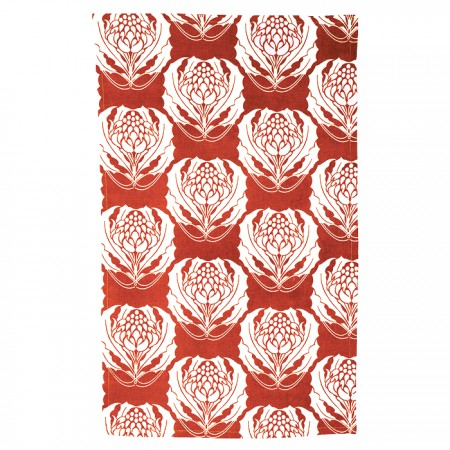 The Linen Press - Red Waratah Tea Towel