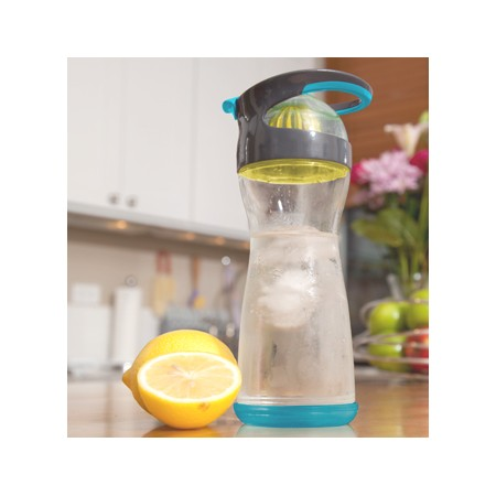 Wherever glass infused water bottle 590ml - blueberry by Full Circle