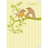 Buy My Earth kids cards - new baby robins