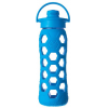 Lifefactory Glass Water Bottle flip-top 22oz 650ml - ocean