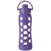 Lifefactory glass bottle flip-top 22oz 650ml - purple