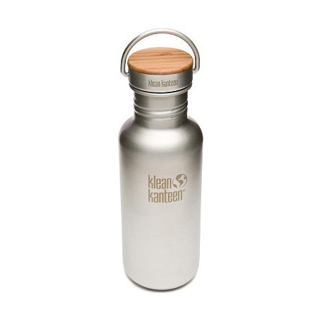 Klean Kanteen classic 18oz 532ml Stainless Steel Water Bottle - bamboo reflect brushed