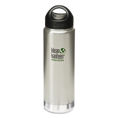 Klean kanteen wide insulated bottle 20oz 591ml - brushed silver