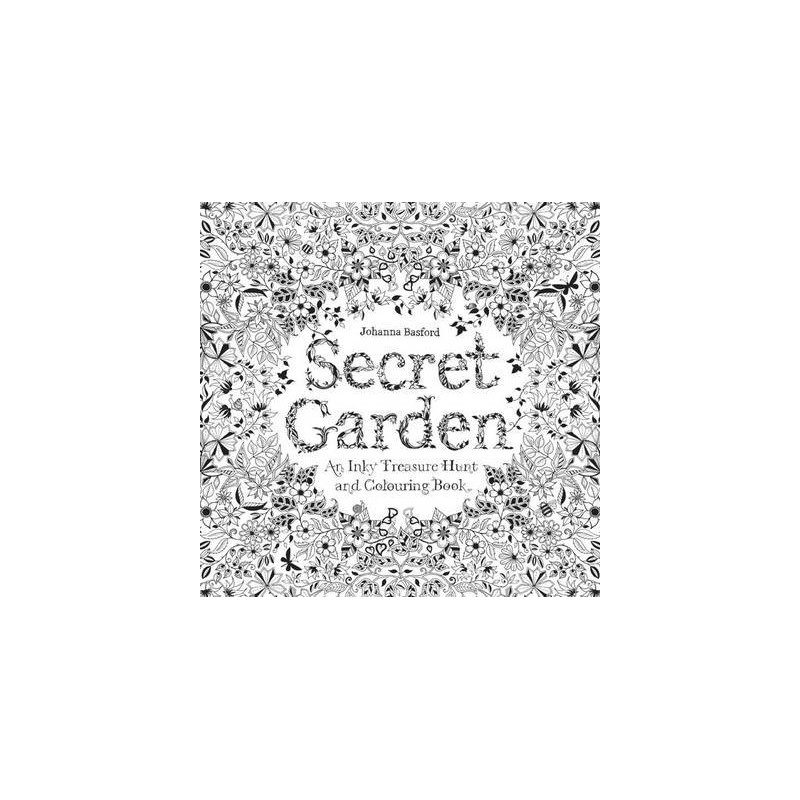 Secret garden an inky treasure hunt colouring book biome for Treasure hunt coloring pages