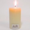 Queen B beeswax candle - 8cm narrow solid pillar
