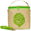Insulated large lunch bag - green artichoke by SoYoung