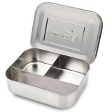 LunchBots trio stainless steel lunch box - trio silver