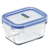 Glass container 180ml rectangle blue