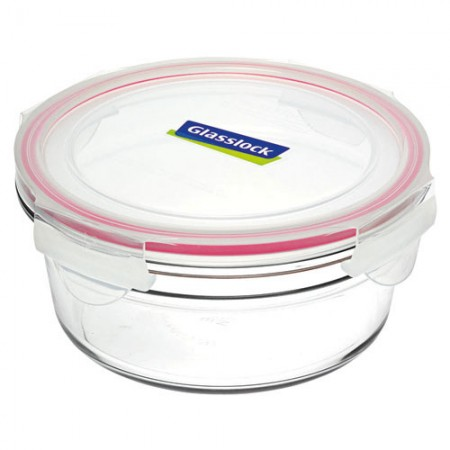 Glasslock oven safe  container 450ml round red