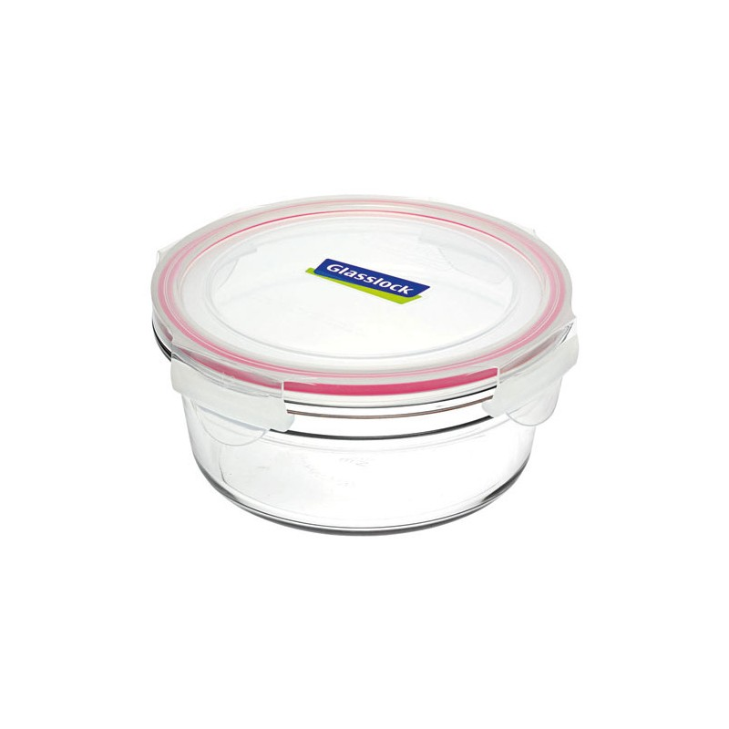 Glasslock Oven Safe Container 450ml Round Red Biome