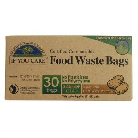 If You Care compostable bags - food waste 11.4L (30 bags)
