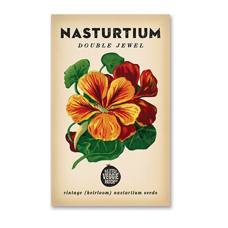 Heirloom seeds - nasturtium double jewel
