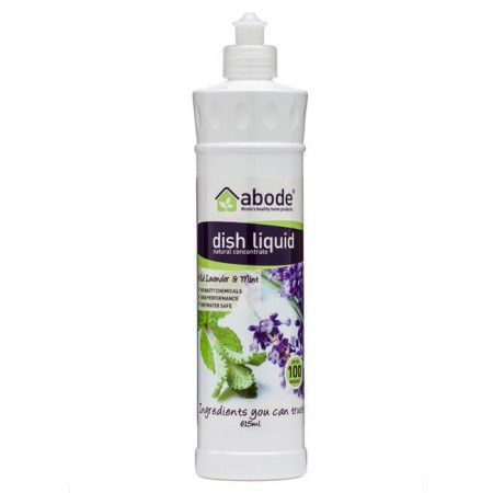 Abode natural dish wash liquid lavender & mint 615ml
