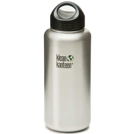 Klean Kanteen wide mouth 40oz 1182ml Water Bottle - brushed silver