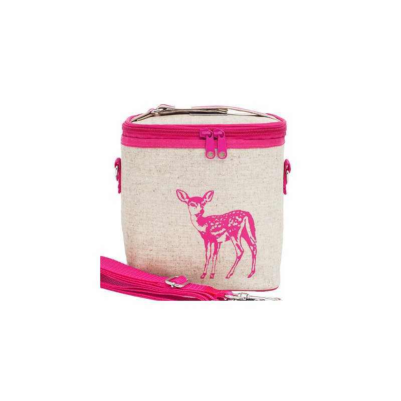 insulated lunch bag small pink fawn by soyoung australia