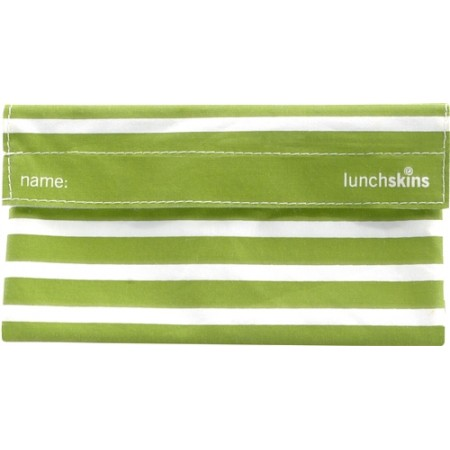 Lunchskins reusable snack bag - Green Stripe
