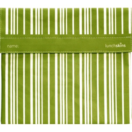 Large sandwich bags - Lunchskins sub size (green stripe)