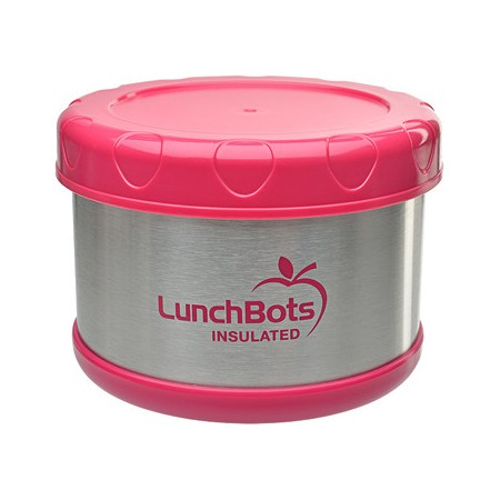 LunchBots Thermal insulated container 500ml 16oz - pink