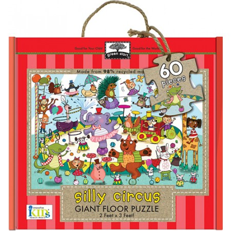 Green Start giant floor puzzle - silly circus