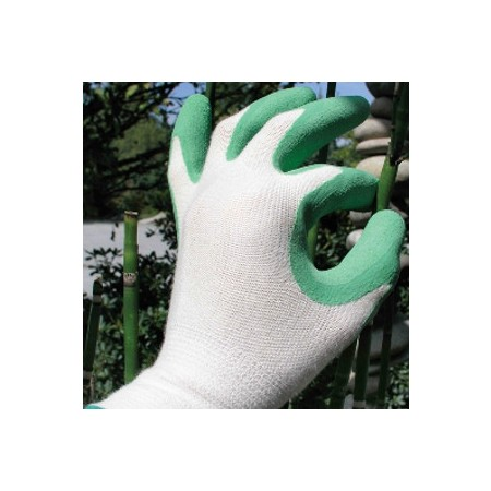 Bamboo fit gardening gloves - green small