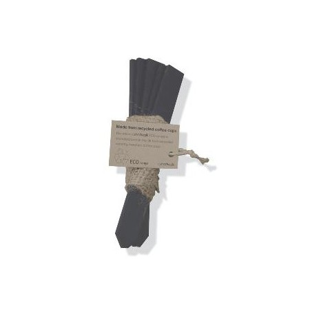 Plant labels black pack of 5 with hessian