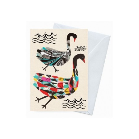 Earth Greetings 'Inaluxe' card - the black swans