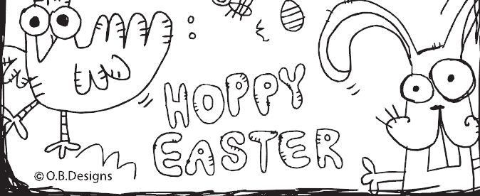 Line Drawing Easter : Easter colouring in