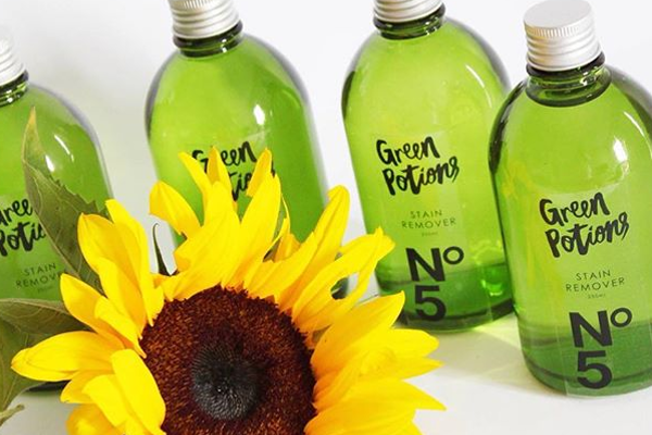 natural cleaning green potions