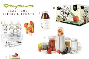 Make your own fresh food, drinks and snacks