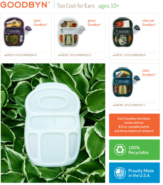 Goodbyn lunch box Too Cool for Ears for ages from 10+ to adult