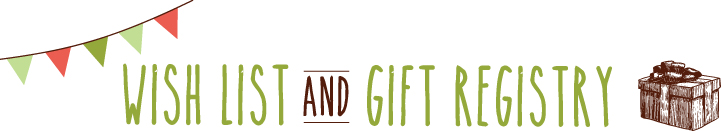 Wish list and gift registry