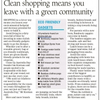 Clean shopping means you leave with a green community