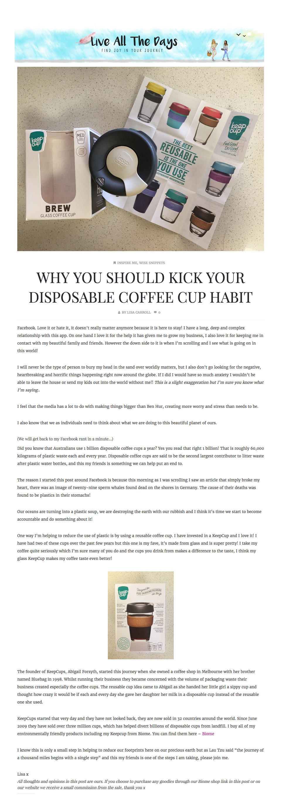 Why you should kick your disposable coffee cup habit